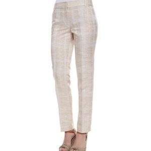 TORY BURCH Harp Textured Straight Leg Pants Size 2